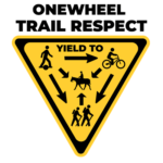 onewheel trail and respect yield to rules